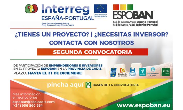 SEGUNDA CONVOCATORIA DE PARTICIPACIÓN DE EMPRENDEDORES EN EL PROYECTO ESPOBAN